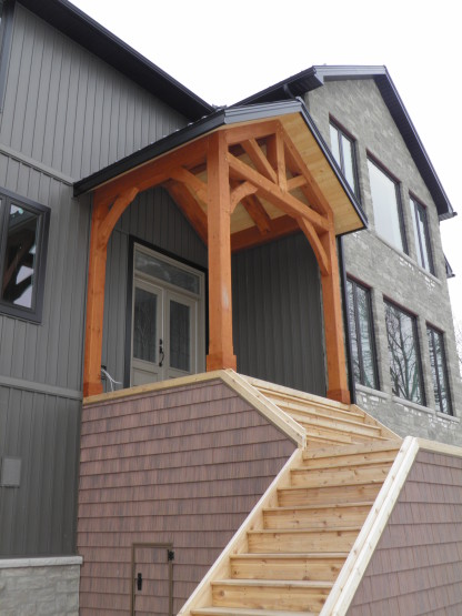 timber porch addition