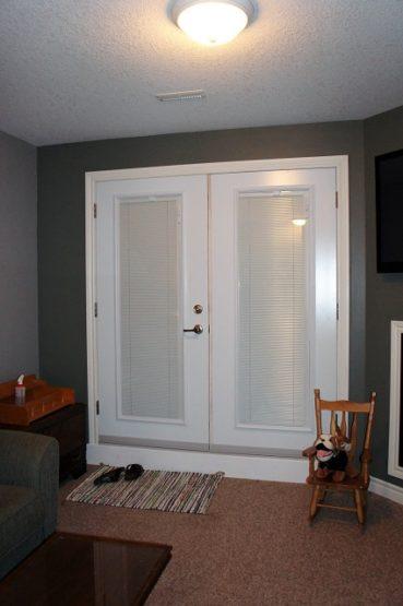 old patio doors replaced with secure garden doors, internal blinds