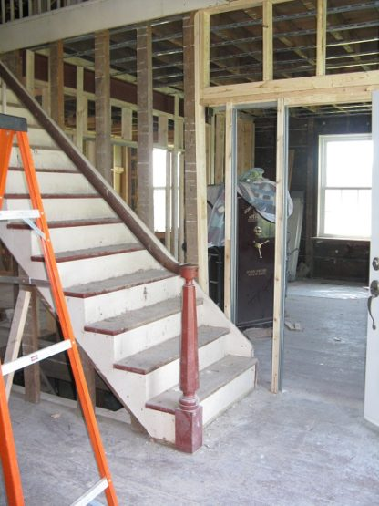 original stairs and open framing